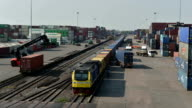 Cargo train at terminal, Time lapse