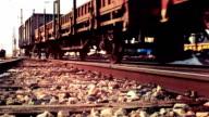 Cargo Train on The Railway