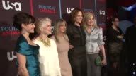 Carla Gugino Ellen Burstyn Bonnie Hammer Sigourney Weaver and Arianna Huffington at USA Networks World Premiere Of 'Political Animals' at The Morgan...