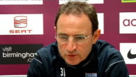 Aston Villa Martin O'Neill press conference O'Neill press conference SOT Talks about how FA's 'Respect' campaign has done so far / Believes football...