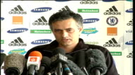 Preview Arsenal v Chelsea London PHOTOGRAPHY * * Jose Mourinho press conference SOT We are delighted with the work he is doing for us ENDS
