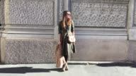 Carlotta Rubaltelli wearing Chloe bag Department Five dress Mango shoes Italian Independent sunglasses and Daniel Wellington watch during the Milan...