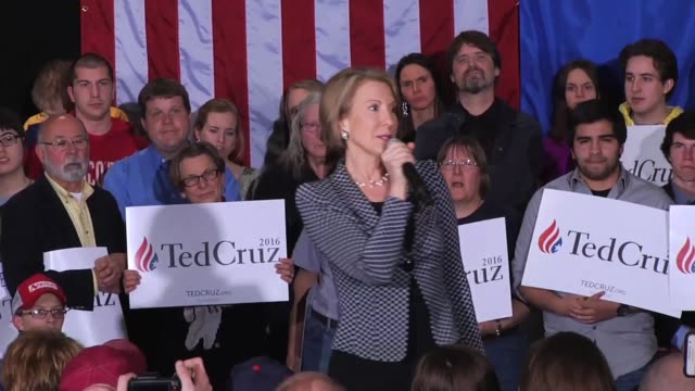Carly Fiorina joins Ted Cruz on the campaign trail in Wausau Wisconsin where she dismisses the Ted Cruz Sex Scandal by bringing up the importance of...
