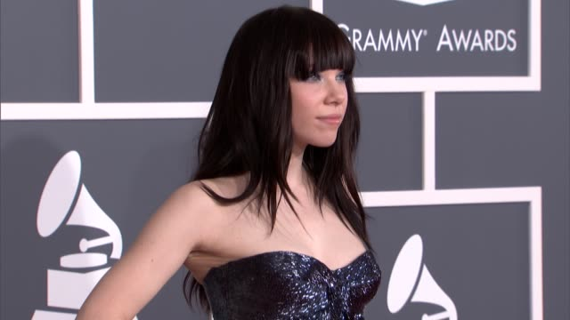 Carly Rae Jepsen at The 55th Annual GRAMMY Awards at Staples Center on February 10 2013 in Los Angeles California