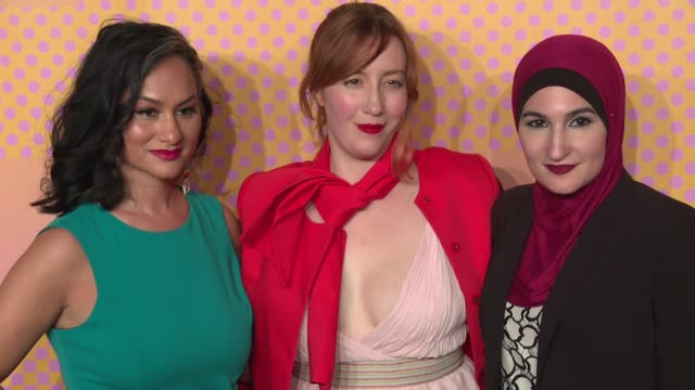 Carmen Perez Bob Bland Linda Sarsour CoChairs of The Women's March at The 21st Annual Webby Awards Arrivals at Cipriani Wall Street on May 15 2017 in...