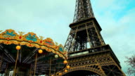 Carousel and Tour Eiffel in Paris