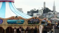 Carousel on Pier 39 on March 11 2015 in San Francisco California