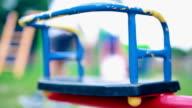 Carousel on playground