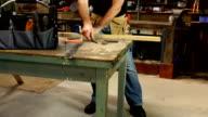 CRANE HD: Carpenter / Handyman working then Smiling