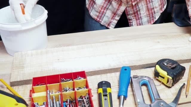 Carpenter painting