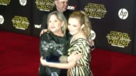 Carrie Fisher and Billie Catherine Lourd at the 'Star Wars The Force Awakens' World Premiere at TCL Chinese Theatre on December 14 2015 in Hollywood...