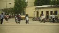 Cars and motorbikes on the roads in N'Djamena Chad on Tuesday Aug 15 2017