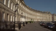 WS PAN Cars parked outside Lansdown Crescent / Bath, England