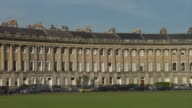 WS PAN Cars parked outside Royal Crescent / Bath, England