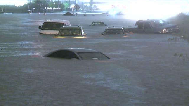 KIAH Cars Submerged in Water in Houston Texas