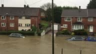 Cars that have been submerged under several feet of flood water are left abandoned in Hartcliffe after heavy rain fall from last night and today...