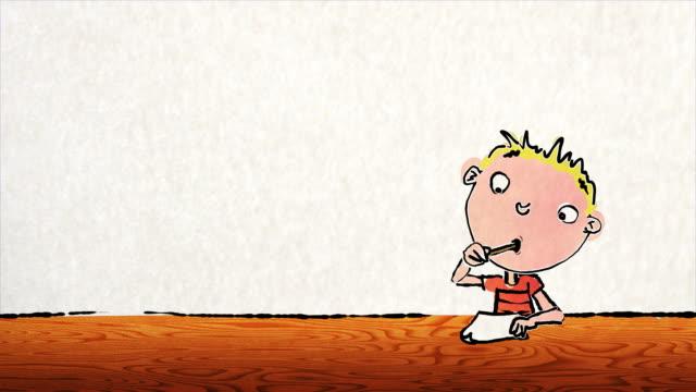 Fumetto di ragazzo con spazio vuoto copia spazio scrittura