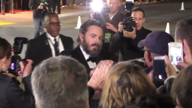 Casey Affleck arriving to the Palm Springs International Film Festival Film Awards Gala in Palm Springs in Celebrity Sightings in Los Angeles