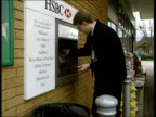 Stephen Byers meeting ITN Man withdrawing cash from HSBC cashpoint