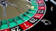 Casino Roulette-Rad mit dem Ball auf Nummer 9