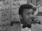 Cassius Clay talks about his forthcoming fight against Henry Cooper at Wembley Stadium