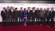 Cast and Crew of 'The Revenant' at the 'The Revenant' Los Angeles Premiere at TCL Chinese Theatre on December 16 2015 in Hollywood California