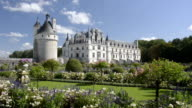 Castle and garden of Chenonceau
