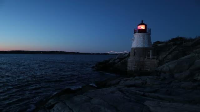 Castle Hill Lighthouse (RI) night