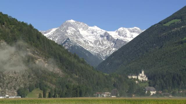 Castle in Front of Mountain Landscape