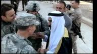 US Casualties / Baghdad British kidnap linked to Iran TX Ramadi Petraeus greeting Sheikh Abdul Sattar