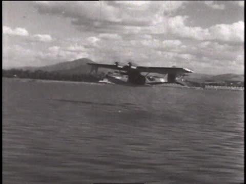 Catalina taking off / At sea