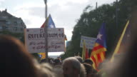 Catalonia demonstration for independence at Diada 2017