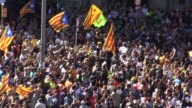Catalonia's Vice President Oriol Junqueras made his way through proindependence protesters on Wednesday to the Conselleria de Economia where several...