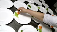 Catering food serving.