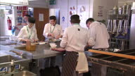 catering students working in kitchen voxpops interviews Alex Elhmann Institute of Directors Rose Turner Oxford and Cherwell College Bernadette Greene...