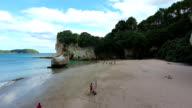 Cathedral Cove, cliffs, beach, rocks, sea, Coromandel, New Zealand