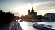 VDO :cathedral Notre Dame de Paris in Paris, France.