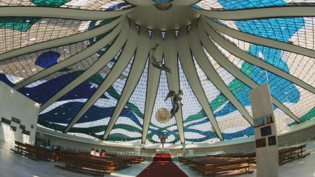T/L, WS, Cathedral of Brasilia interior, Brasilia, Brazil