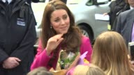 Catherine Duchess of Cambridge at The Duke and Duchess of Cambridge visit XLP on March 27 2015 in London England