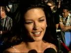 Catherine Zeta Jones at the 1999 MTV Movie Awards entrances at Barker Hanger in Santa Monica California on June 5 1999