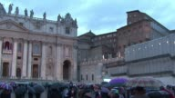 Catholic pilgrims cried out as the first smoke to appear from the Sistine Chapel chimney turned black on Tuesday meaning no pope had been elected...