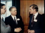Cecil Parkinson made Chairman of Conservative Party NAT London INT CMS Cecil Parkinson speaking / MS Russian diplomat PULLOUT Parkinson / CS...