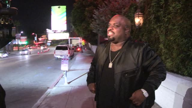 Cee Lo Green on Adam Levine while entering Bar Marmont in West Hollywood in Celebrity Sightings in Los Angeles