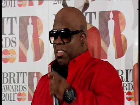 Cee Lo Green on winning a BRIT Award at the Brit Awards 2011 at London England