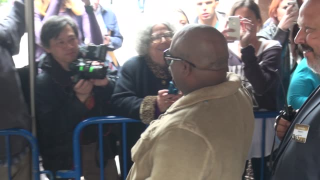 Cee Lo Green poses with fans outside of The Theater at Madison Square Garden for the TNTTBS Upfront in Celebrity Sightings in New York
