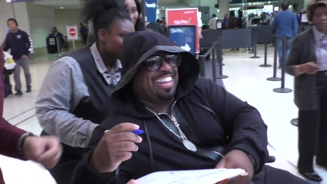 INTERVIEW CeeLo Green on why he's in a wheelchair at Los Angeles International Airport at Celebrity Sightings in Los Angeles on November 04 2016 in...
