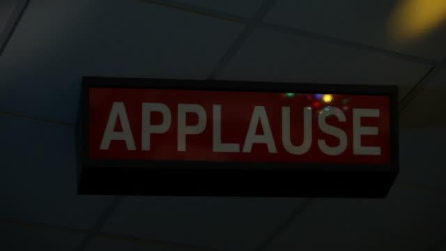 Ceiling Mounted Illuminated Applause Sign Flashing