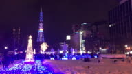 celebrate christmas festival at sapporo city