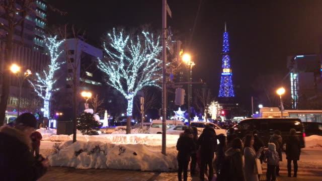 celebrate christmas festival at sapporo