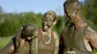 Celebrating After Mud Run